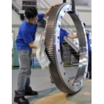 Large Helical Ring Gear for Vertical Lathe